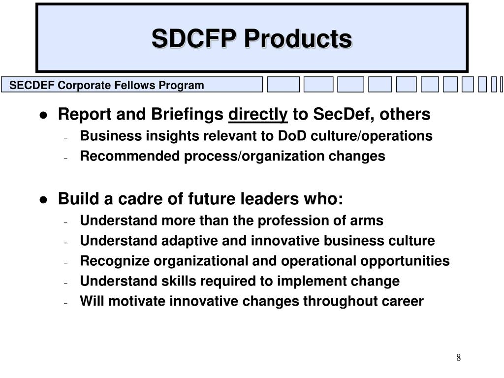 SDCFP Products