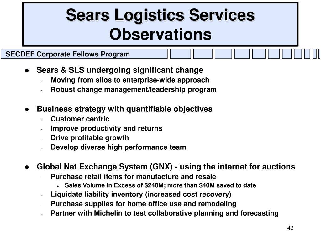 Sears Logistics Services