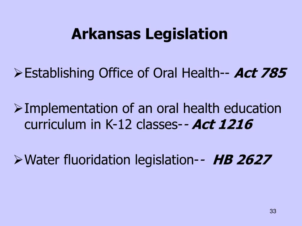 Arkansas Legislation