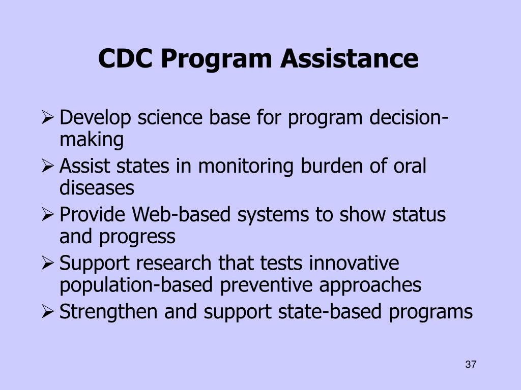 CDC Program Assistance