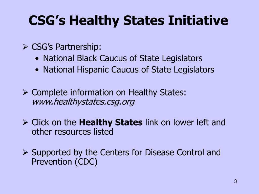 CSG's Healthy States Initiative
