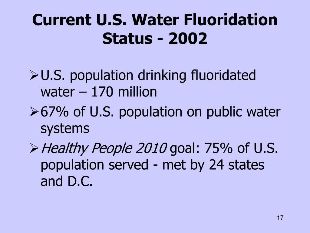 Current U.S. Water Fluoridation Status - 2002