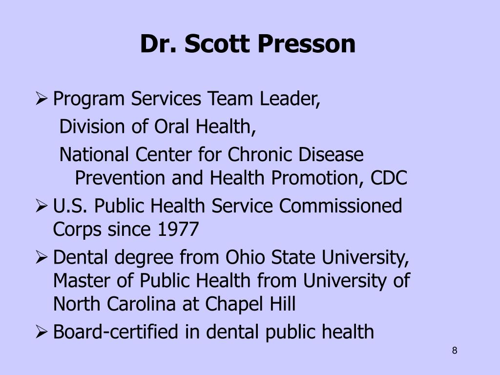 Dr. Scott Presson