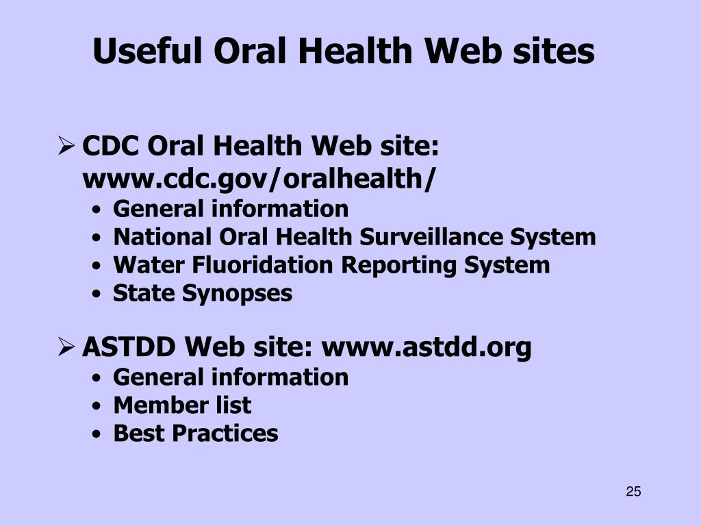 Useful Oral Health Web sites
