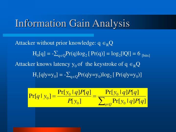 Information Gain Analysis