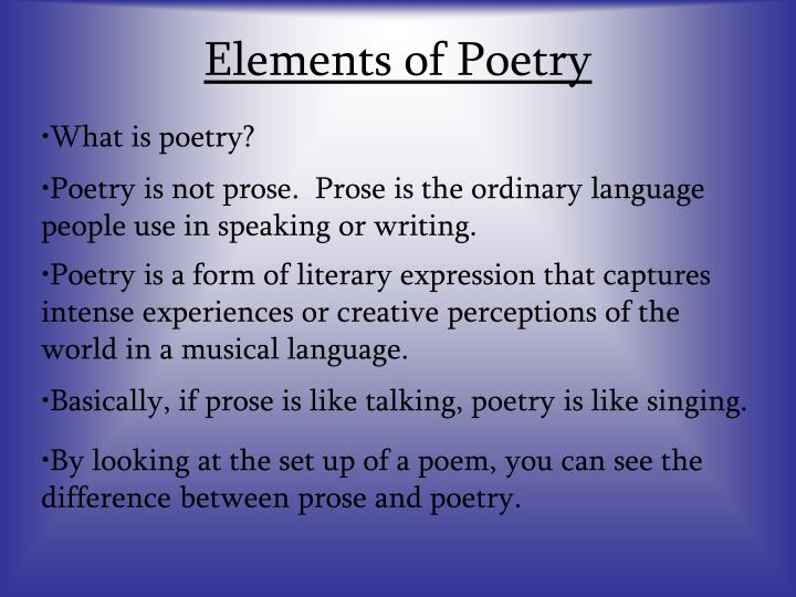 Elements of poetry1