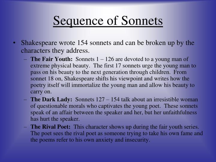 Sequence of Sonnets