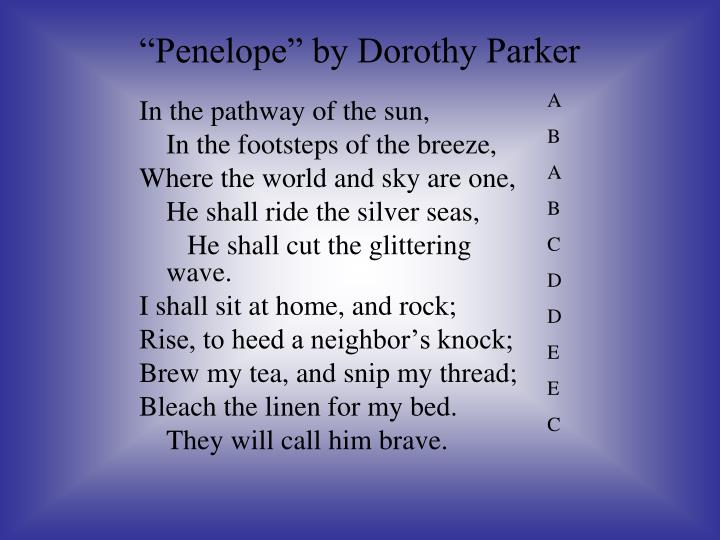 """Penelope"" by Dorothy Parker"