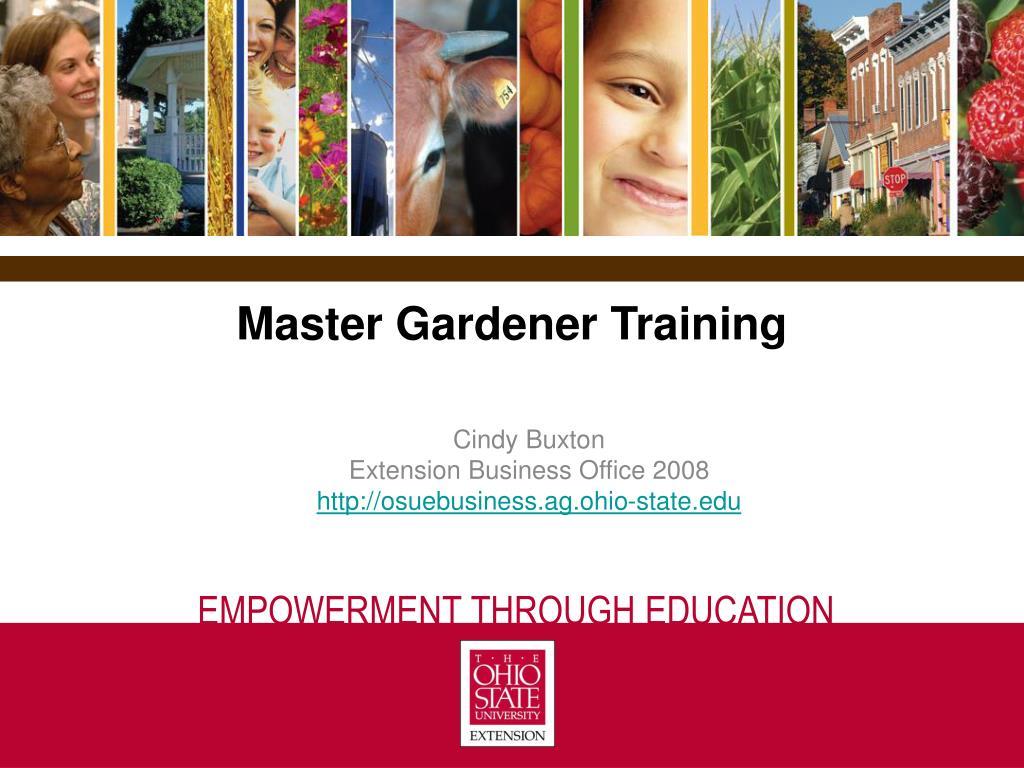 Master Gardener Training