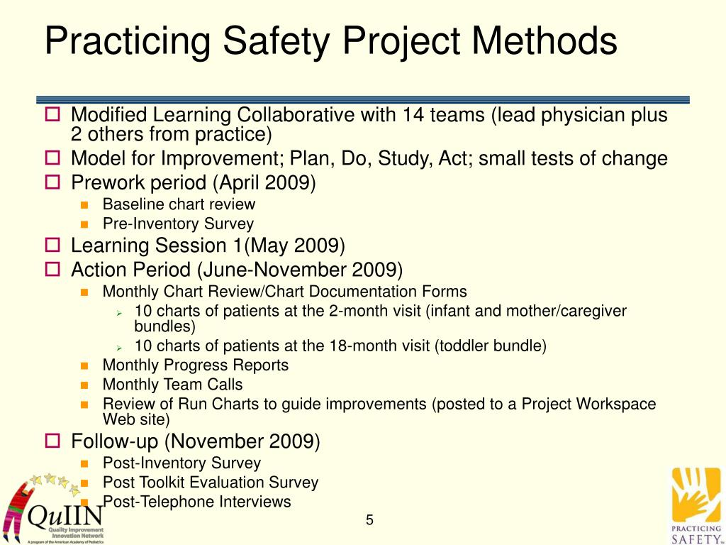 Practicing Safety Project Methods