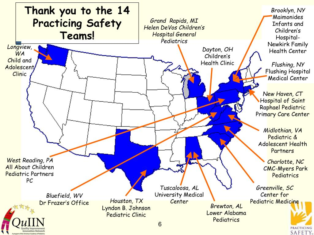 Thank you to the 14 Practicing Safety Teams!