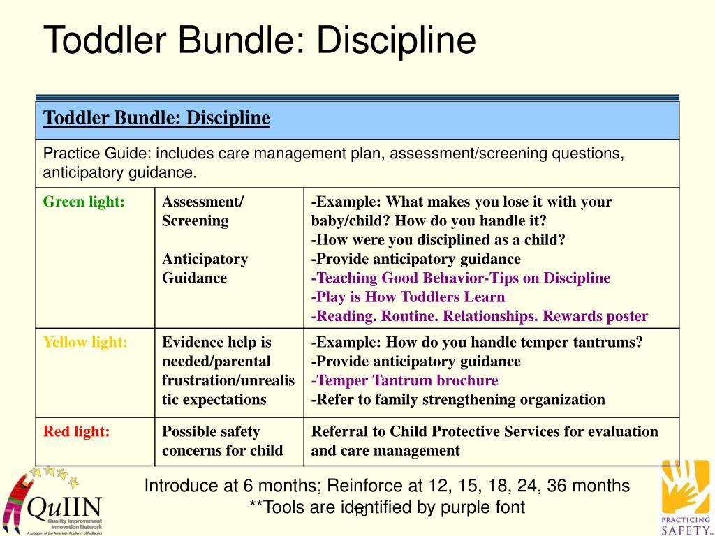 Toddler Bundle: Discipline