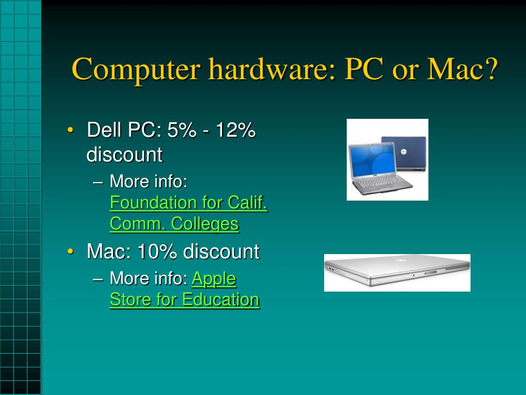 Computer hardware: PC or Mac?