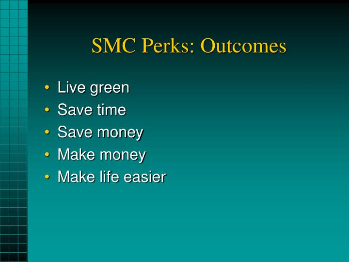 Smc perks outcomes