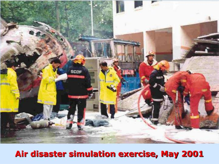 Air disaster simulation exercise, May 2001