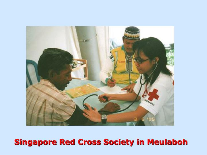 Singapore Red Cross Society in Meulaboh