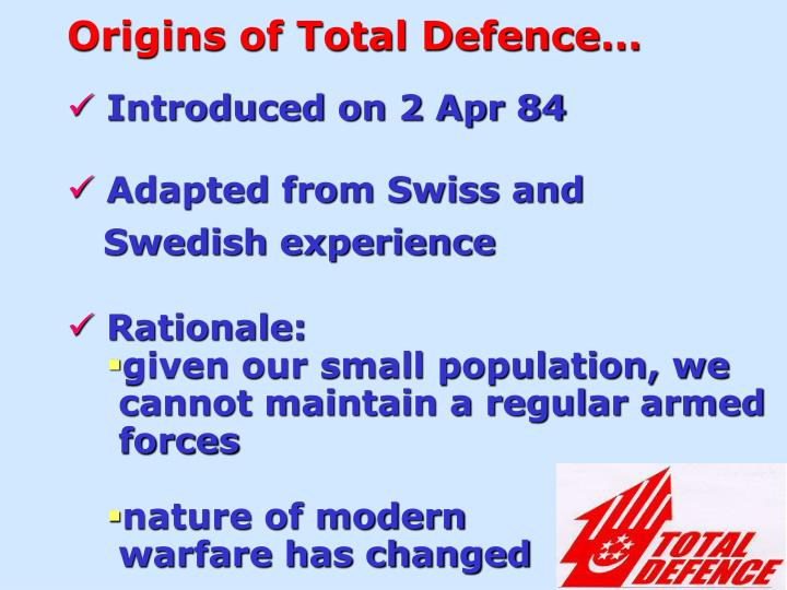 Origins of Total Defence…