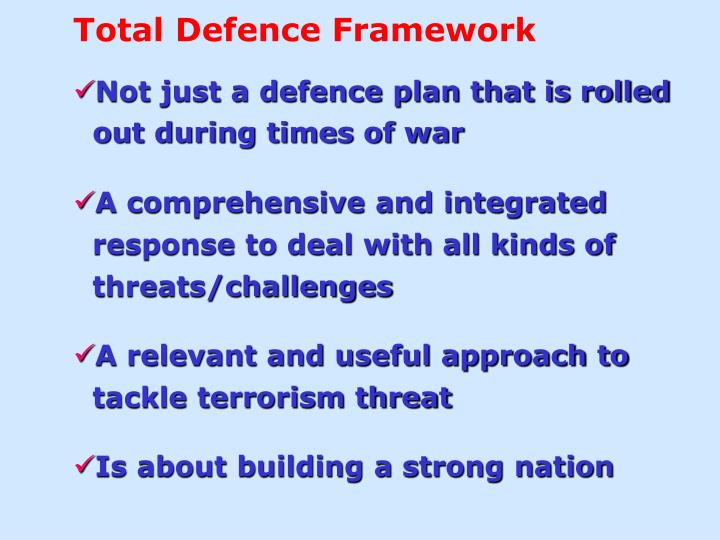 Total Defence Framework
