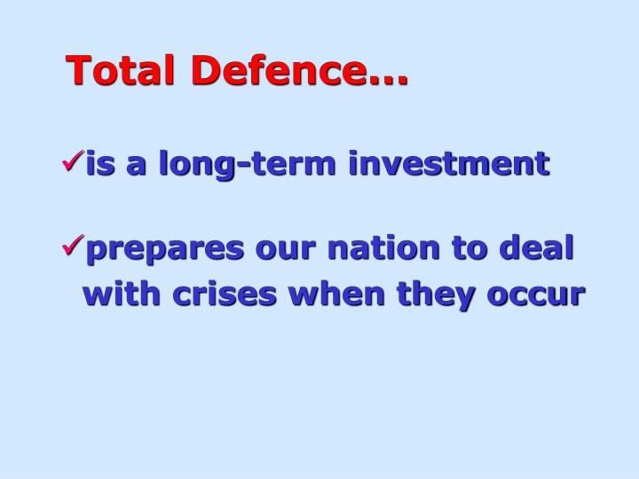 Total Defence...