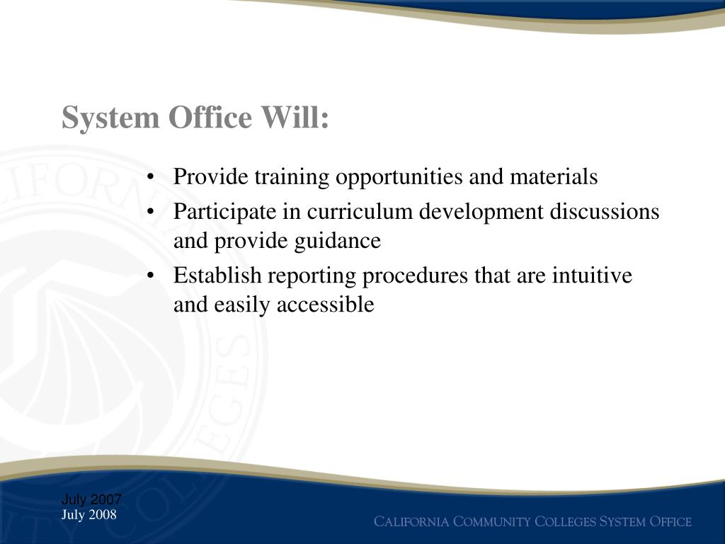 System Office Will: