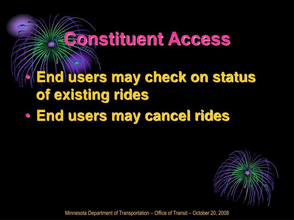 Constituent Access
