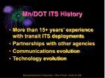 mn dot its history