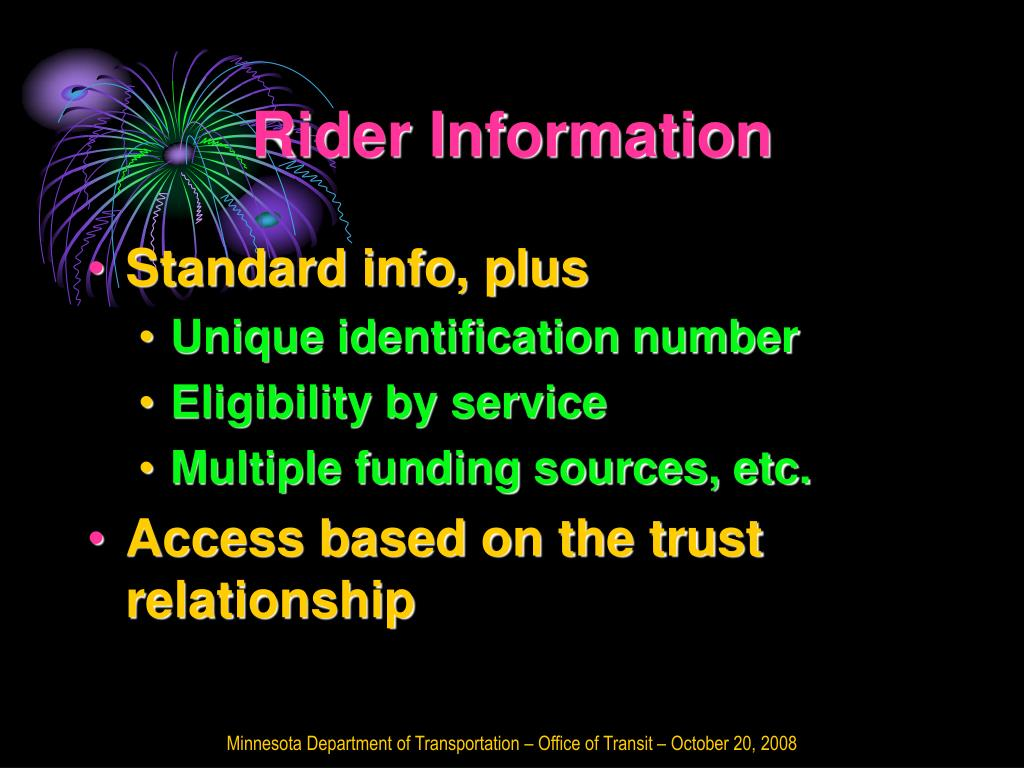 Rider Information