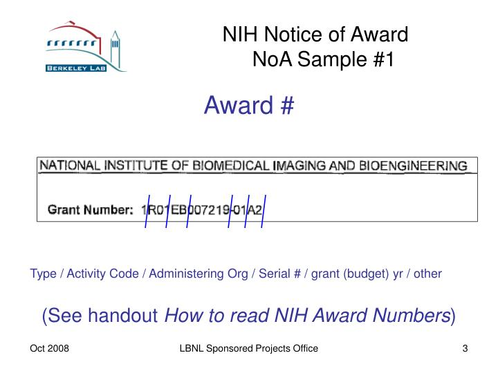 Nih notice of award noa sample 13 l.jpg