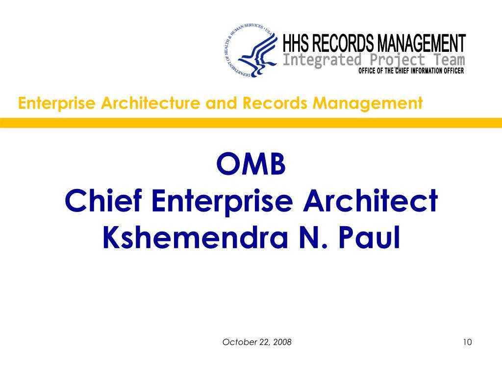 Enterprise Architecture and Records Management