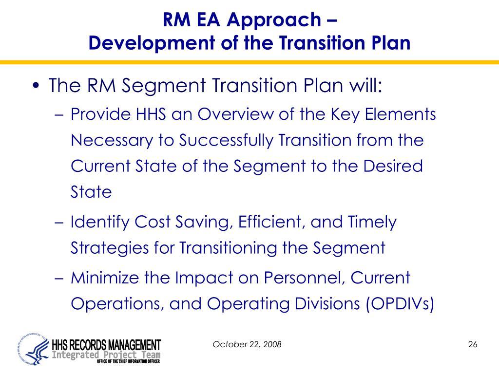 RM EA Approach –