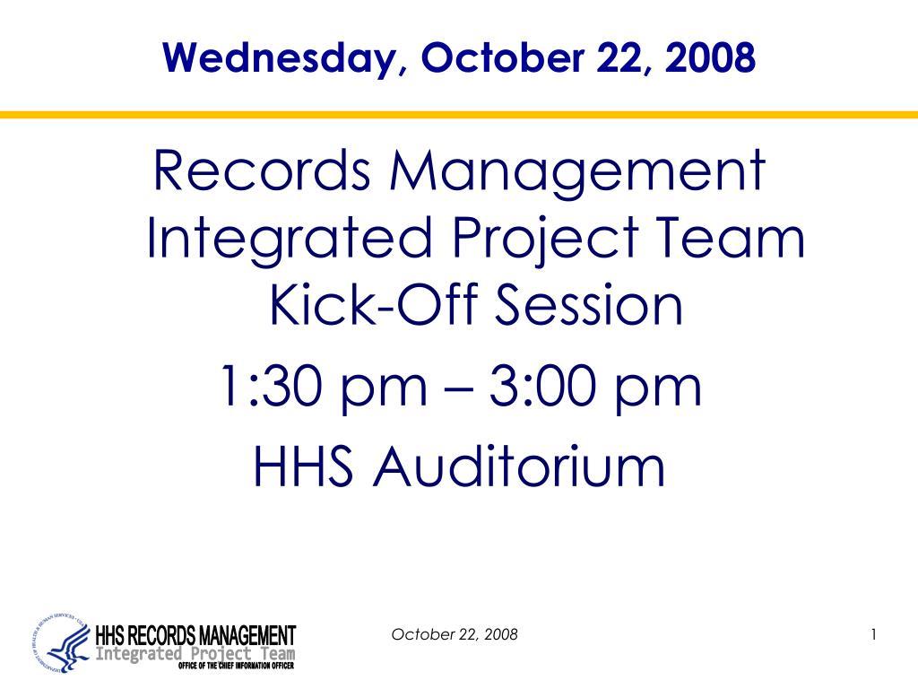 Wednesday, October 22, 2008