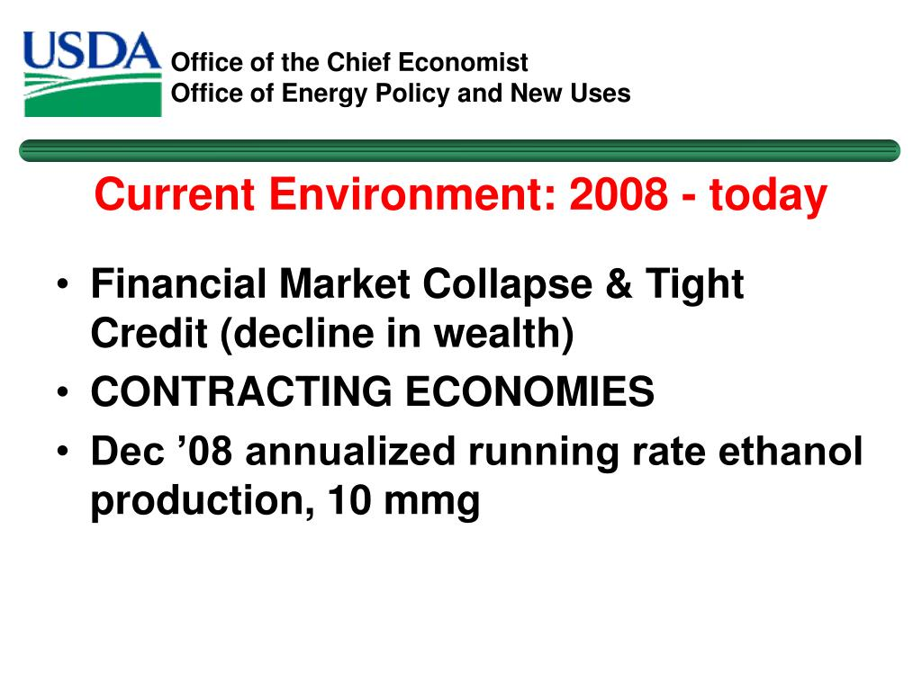 Current Environment: 2008 - today