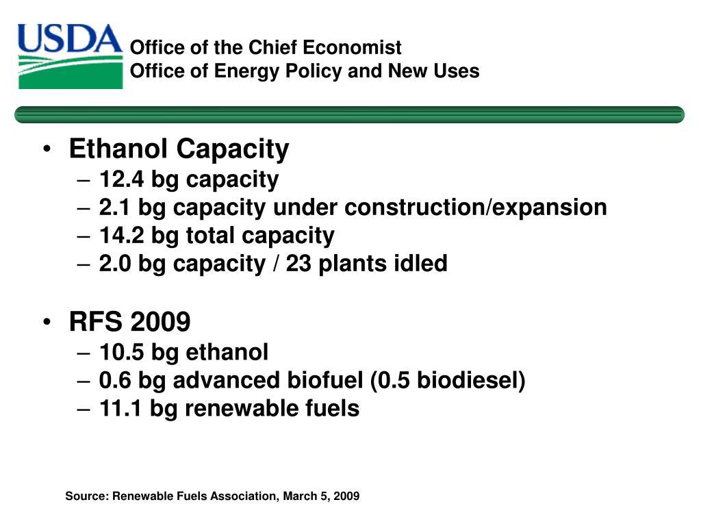 Ethanol Capacity