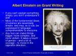 albert einstein on grant writing