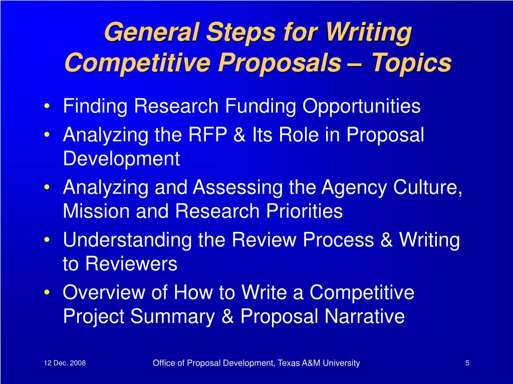 General Steps for Writing