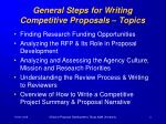 general steps for writing competitive proposals topics