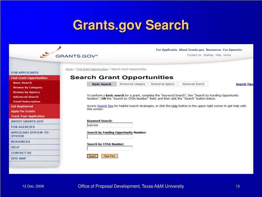 Grants.gov Search