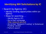 identifying nih solicitations by ic
