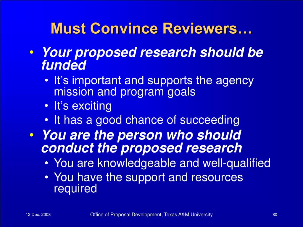 Must Convince Reviewers…
