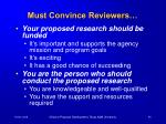 must convince reviewers