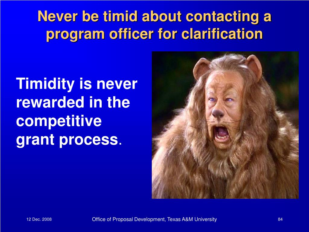 Never be timid about contacting a program officer for clarification