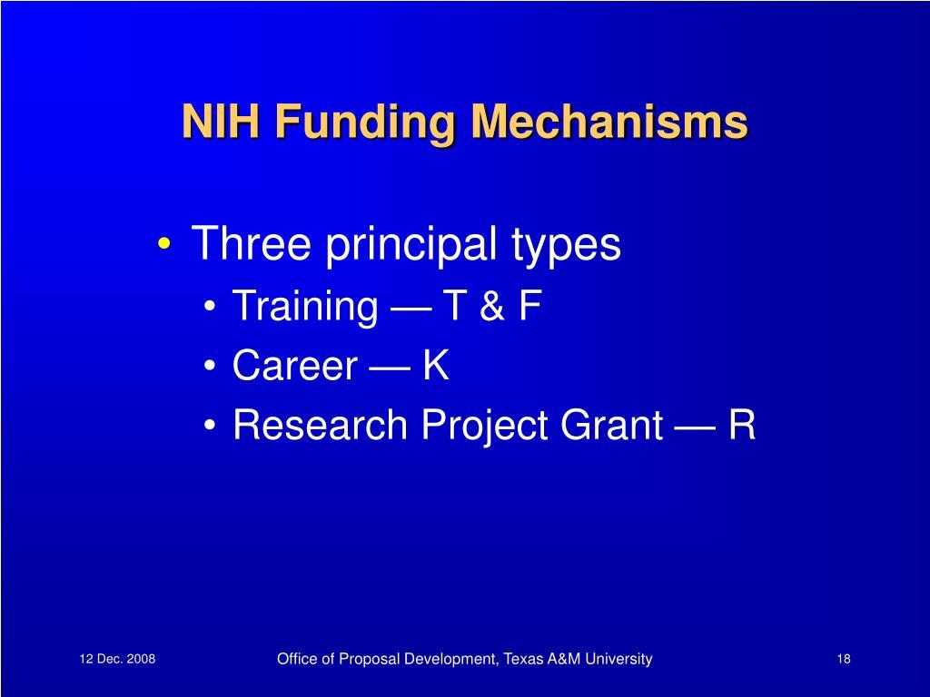 NIH Funding Mechanisms