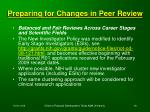 preparing for changes in peer review68