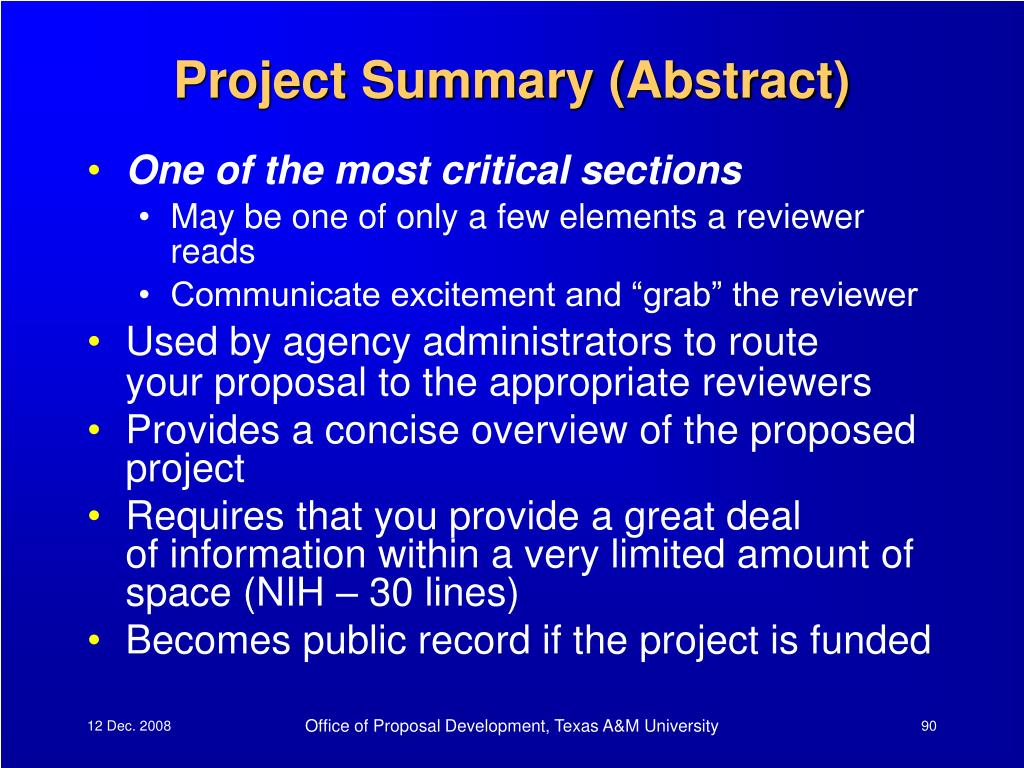 Project Summary (Abstract)