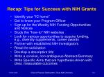 recap tips for success with nih grants