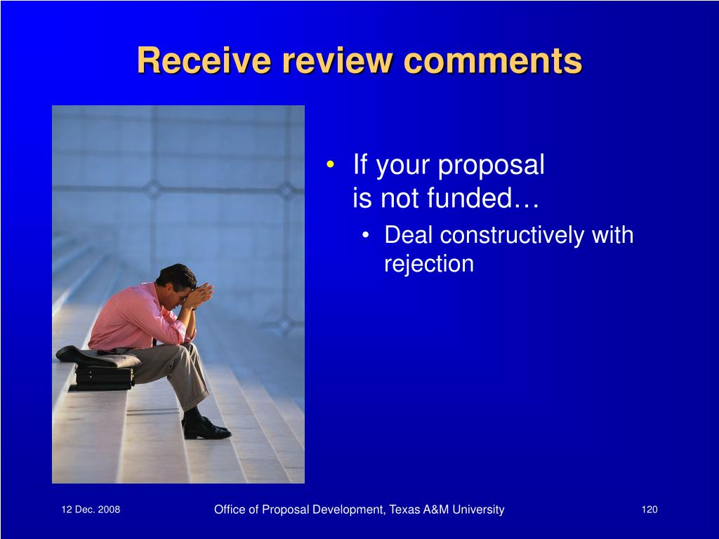 Receive review comments