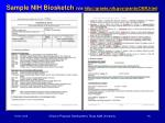 sample nih biosketch via http grants nih gov grants oer htm