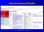 vaccine keyword results