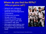 where do you find the rfps who ya gonna call