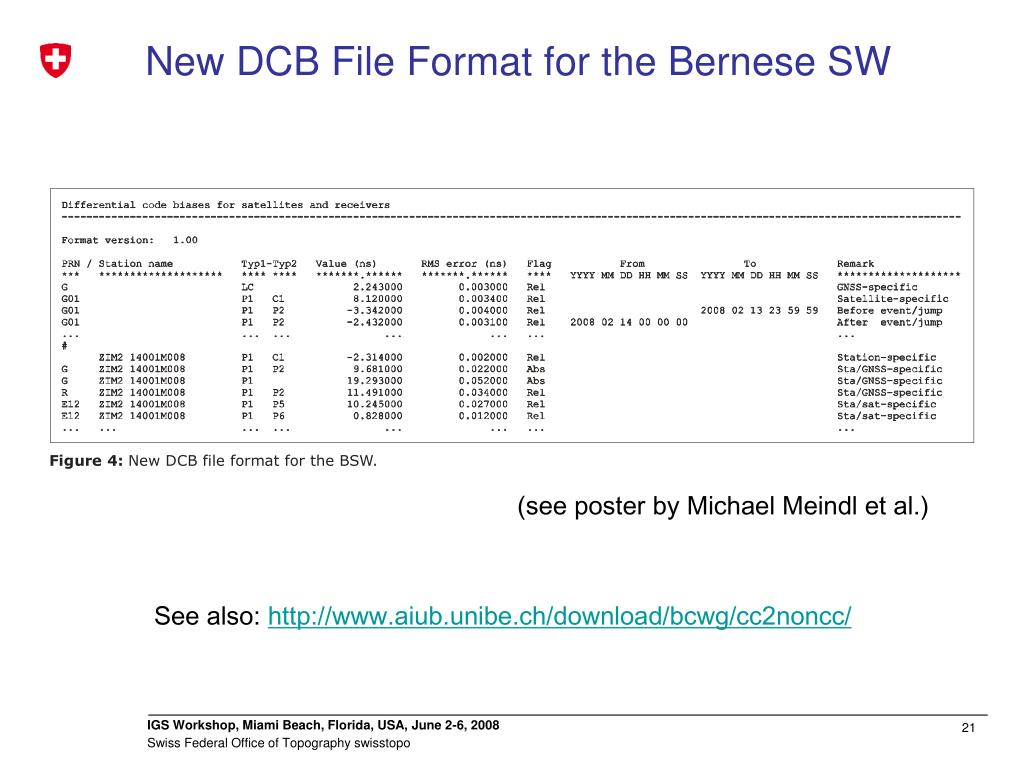 New DCB File Format for the Bernese SW